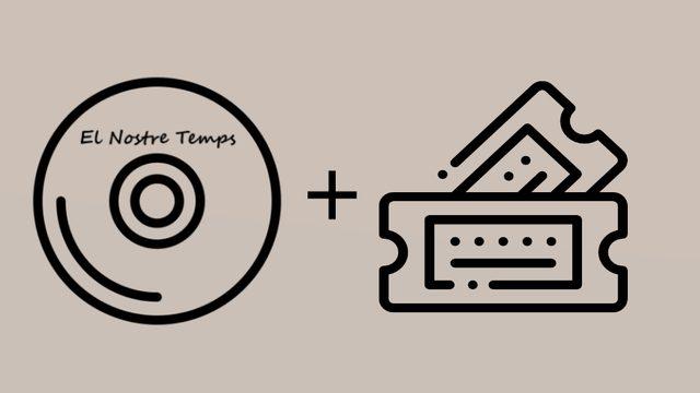 """1 CD album of """"El Nostre Temps"""" + 1 Concert Ticket Presentation CD. Thanks in social networks."""
