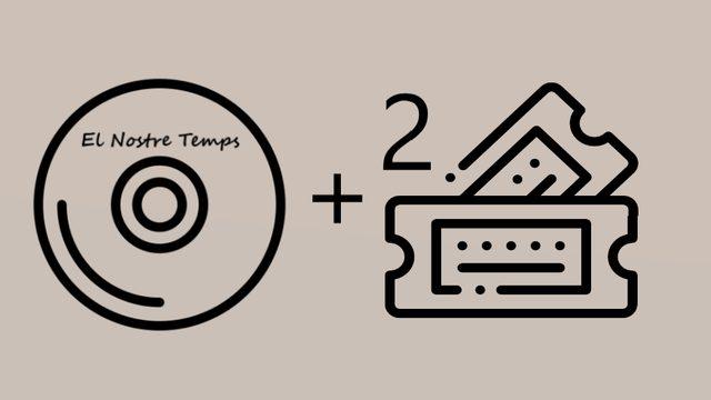 """1 CD album of """"El Nostre Temps"""" + 2 Concert Tickets Presentation CD. Thanks in social networks."""