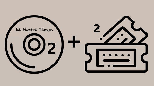 """2 CD album of """"El Nostre Temps"""" + 2 Concert Tickets Presentation CD. Thanks in social networks."""