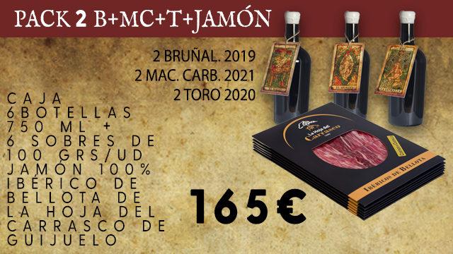 PACK 2 B+MC+T+ 6 SOBRES JAMON 100% IBERICO BELLOTA