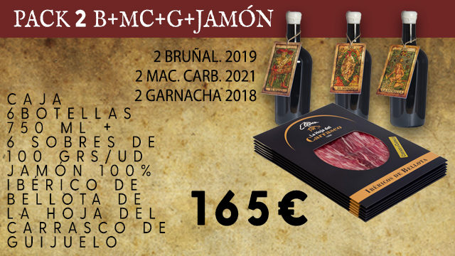 PACK 2 B+MC+G+ 6 SOBRES JAMON 100% IBERICO BELLOTA