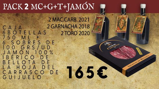 PACK 2 MC+G+T+ 6 SOBRES JAMON 100% IBERICO BELLOTA