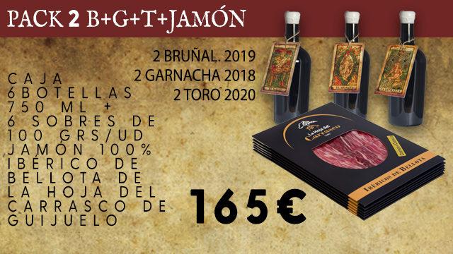 PACK 2 B+G+T+ 6 SOBRES JAMON 100% IBERICO BELLOTA
