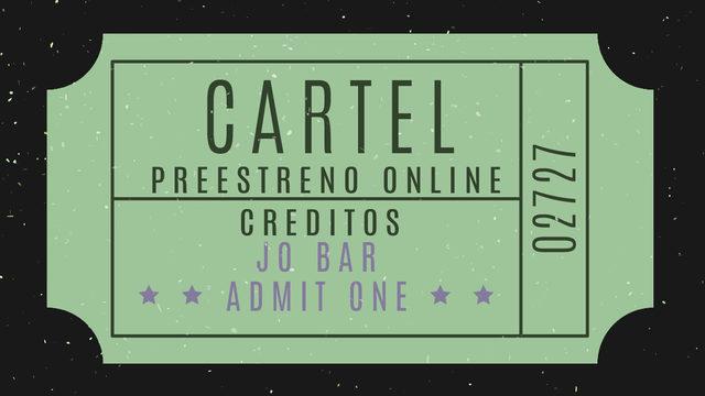 Cartel + Créditos + Preestreno online + Pegatina