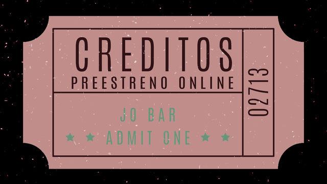 Créditos + Preestreno Online + Pegatina