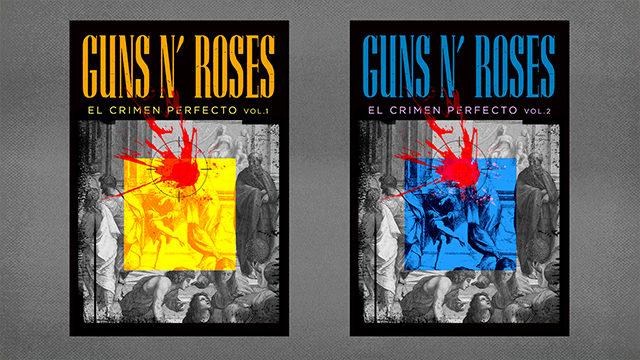 "Los dos volúmenes de ""Guns N' Roses. El Crimen Perfecto"""