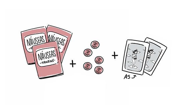 10 Fanzines + Agradecimientos + 10 Chapas + 2 Láminas (Envío a España)