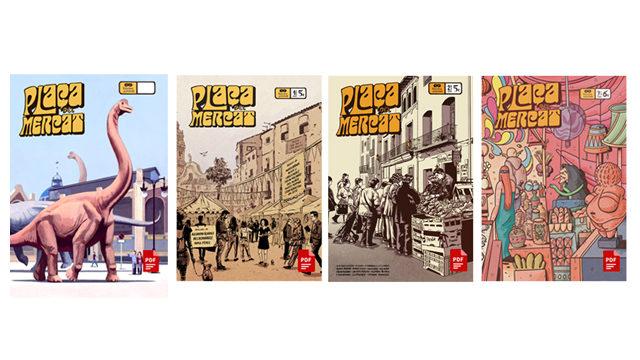Plaça del Mercat nº1, 2, 3 y 4 en digital.