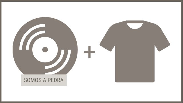 """CD """"SOMOS A PEDRA"""" + 1 camiseta"""