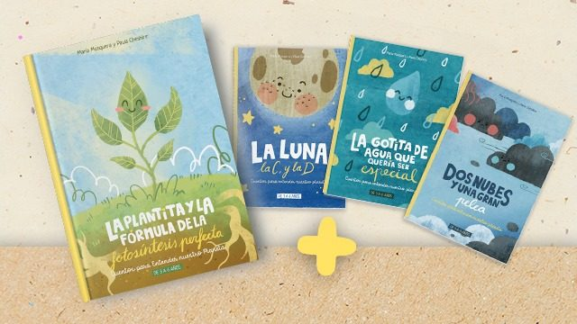 La plantita y la fórmula de la fotosíntesis perfecta en papel (ES) + Pack de 3 Cuentos para entender nuestro planeta en tapa blanda