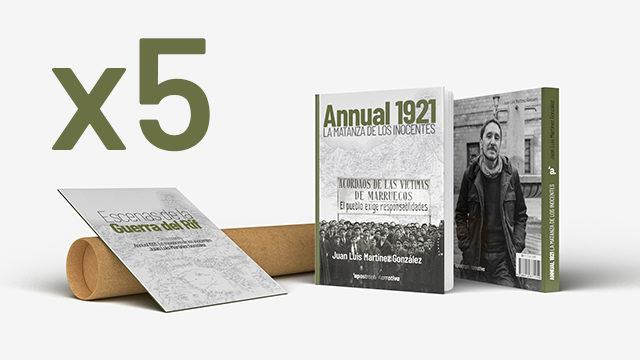 5 ejemplares de Annual 1921. La matanza de los inocentes + póster + postales