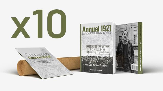 10 ejemplares de Annual 1921. La matanza de los inocentes + póster + postales