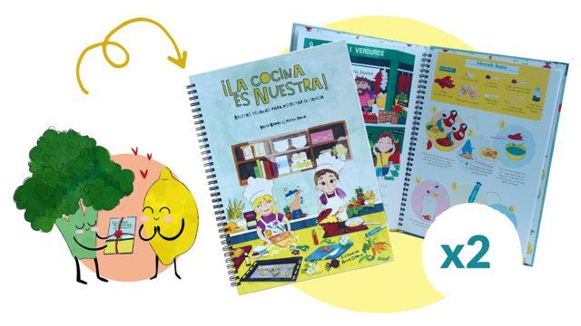 2 Libros de ¡La cocina es nuestra!