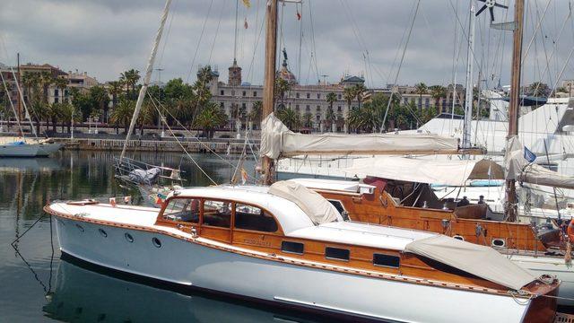 Barcelona Skyline by Classic Boat