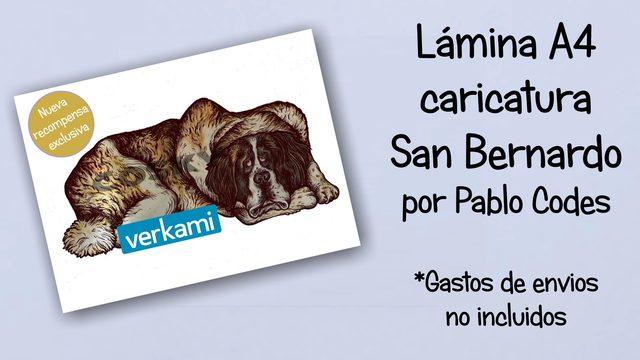 Lámina caricatura San Bernardo en A4