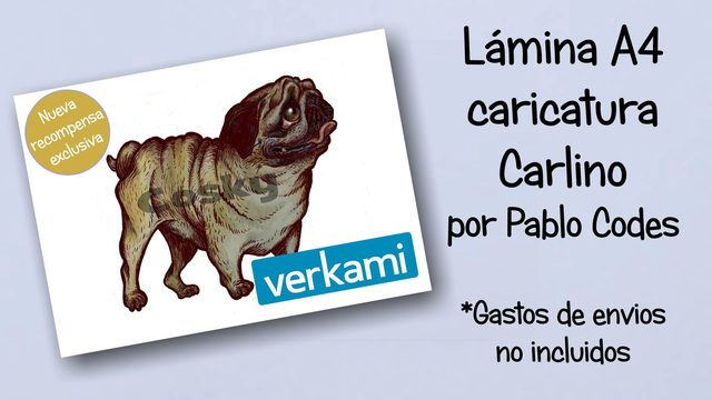 Lámina caricatura Carlino en A4