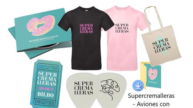 "Pack ""Limitado"" CD + Descarga + Camiseta + Entrada + Tote Bag + Púa"