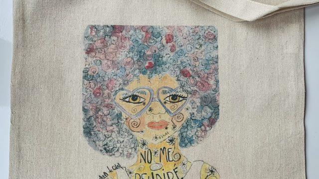 Bolsa de tela serigrafiada + lámina tamaño A5
