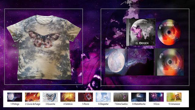 TE DOY UN BESO EN LA FRENTE AHORA MISMO- El Origen Álbum + Camiseta + 10 ilustraciones tamaño
