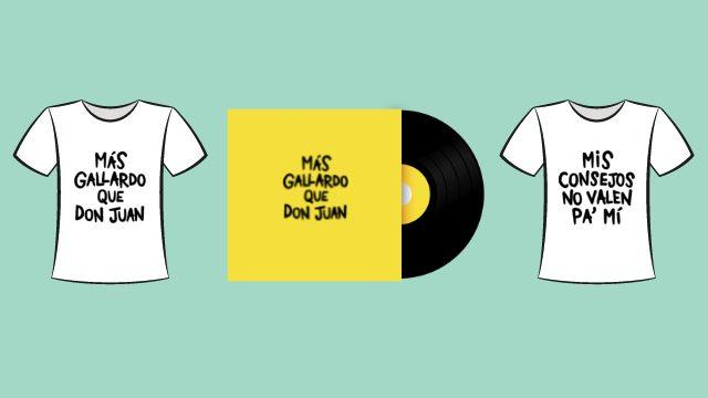 Disco firmado + camiseta