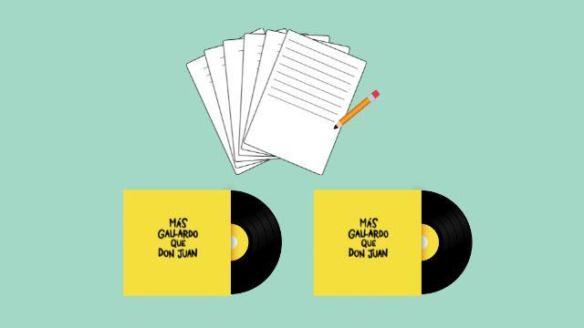 Canción personalizada + manuscrito de la canción + dos discos firmados