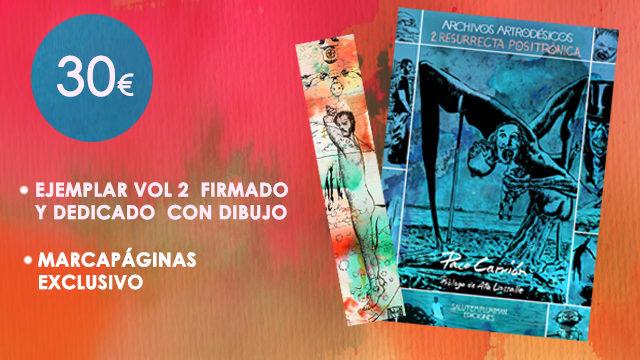 Vol. 2, firmado y dedicado con dibujo + Marcapáginas exclusivo.