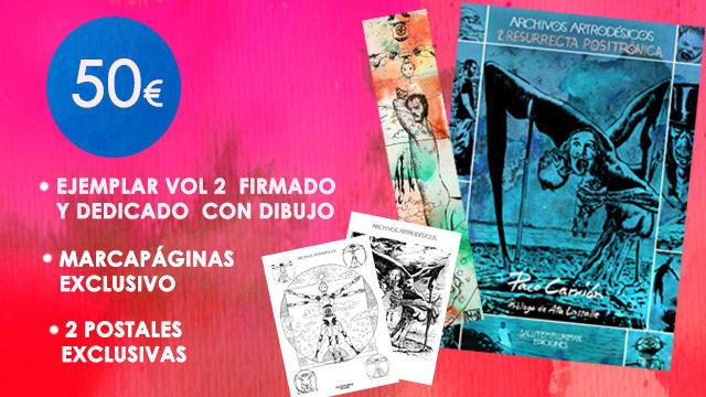 Vol. 2, firmado y dedicado con dibujo + Marcapáginas exclusivo + 2 Postales exclusivas.