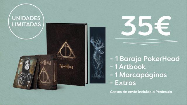x1 Baraja PokerHead + x1 Artbook + 1 Marcapáginas + Extras