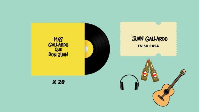 20 discos firmados + concierto privado en mi casa con quien quieras + escuchamos el disco juntos + picoteo