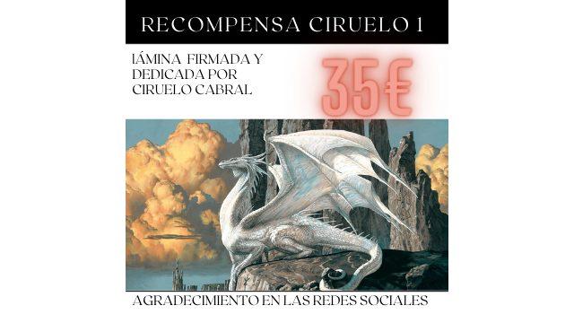 Lámina dedicada y firmada por Ciruelo Cabral