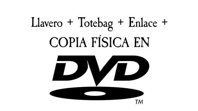 Llavero + Créditos + Totebag + Enlace de descarga + DVD