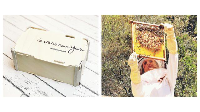 """Caja de miel """"de catas con Yas"""" + Visita a las colmenas de """"El tío Picho"""""""