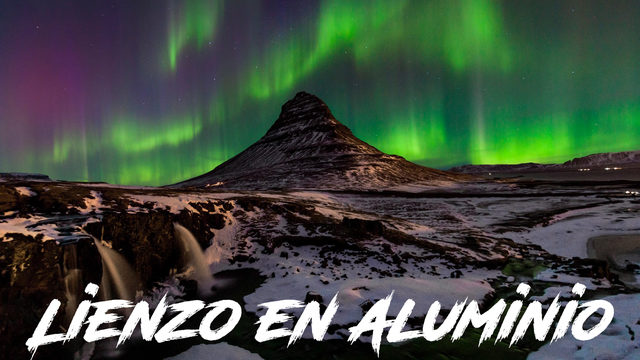 Fotografia rider auroras en Aluminio