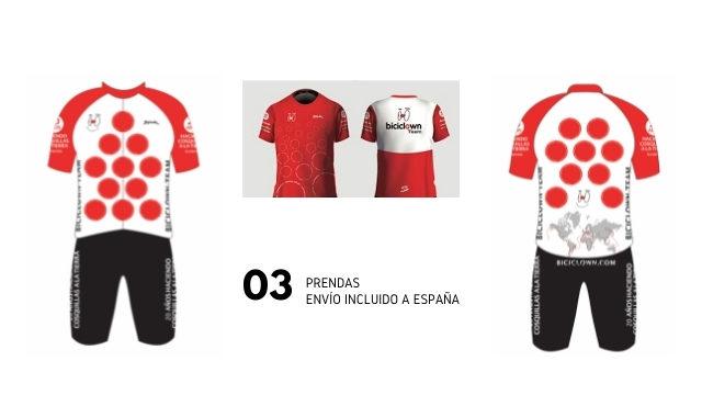 Toda la equipación Biciclown Team