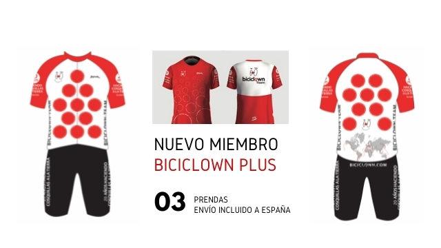 Toda la equipación Biciclown Team (Biciclown plus NUEVO MIEMBRO)