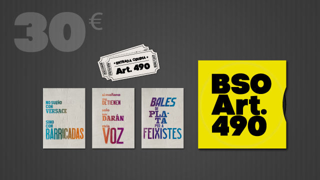 Entrada doble o visionat on-line, postals censurades, BSO Art.490 i crèdits