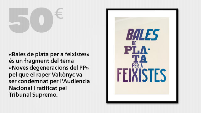 "Entrada o visionat on-line i cartell de sèrie limitada: ""Bales de plata per a feixistes"""