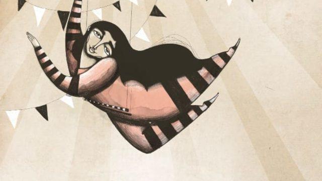 "Iris Serrano's A4 Print ""The trapeze artist"""