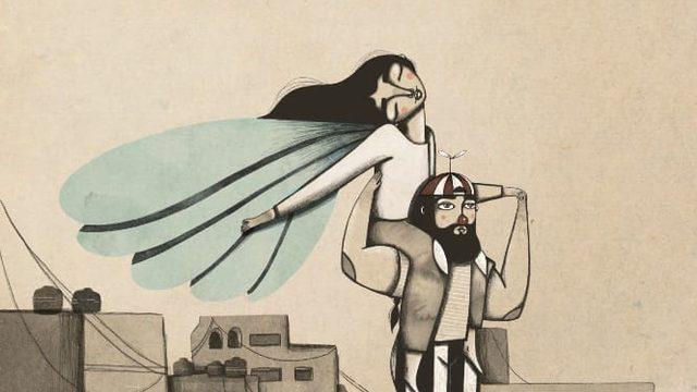 "Iris Serrano's A3 Print ""Flying girl"""
