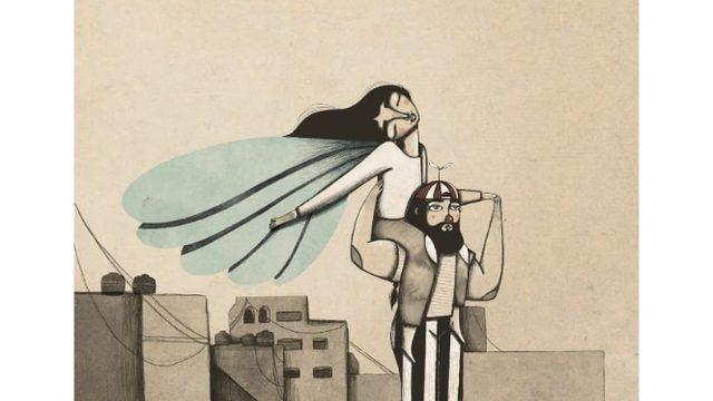 "Iris Serrano's A4 Print ""Flying girl"""