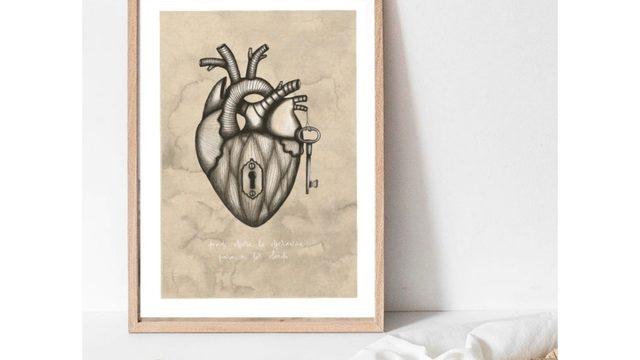 "Iris Serrano's A4 Print ""Heart"""