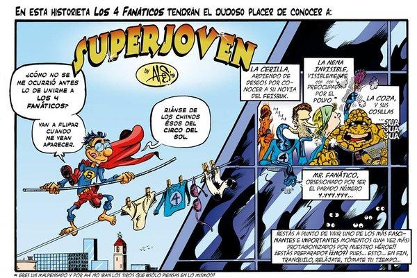 Nuevas tiras coloreadas del cómic de SUPERJOVEN
