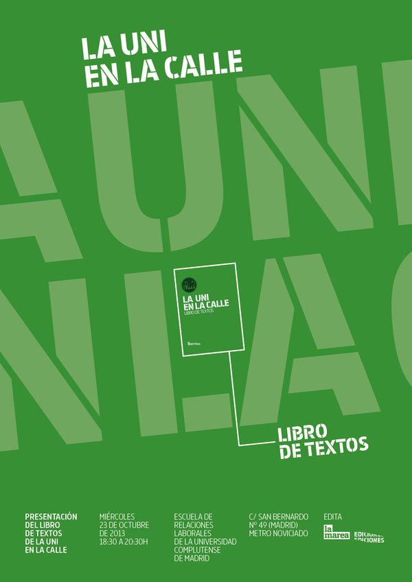 Presentación del libro de texto de La Uni en la calle