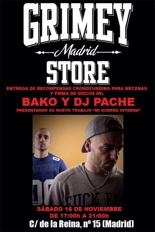 BAKO Y DJ PACHE. ENTREGA DE RECOMPENSAS