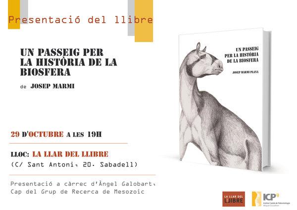 """Avui presentem """"Un passeig per la història de la biosfera"""". A les 19h a Sabadell."""
