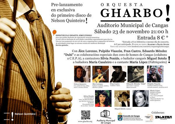 """Pre-lanzamento do disco """"Orquesta Gharbo!"""" de Nelson Quinteiro. Auditorio Municipal de Cangas do Morrazo"""