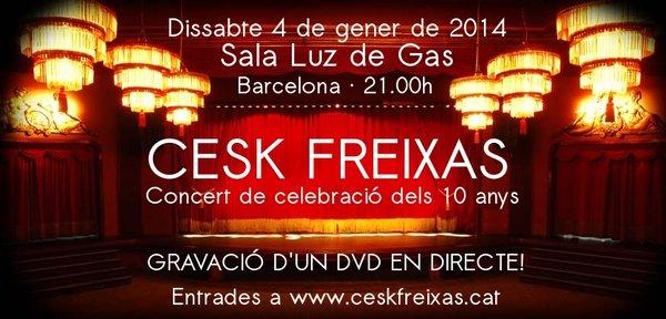 El 4 de gener, celebrarem els 10 anys amb un concert que gravarem en DVD!