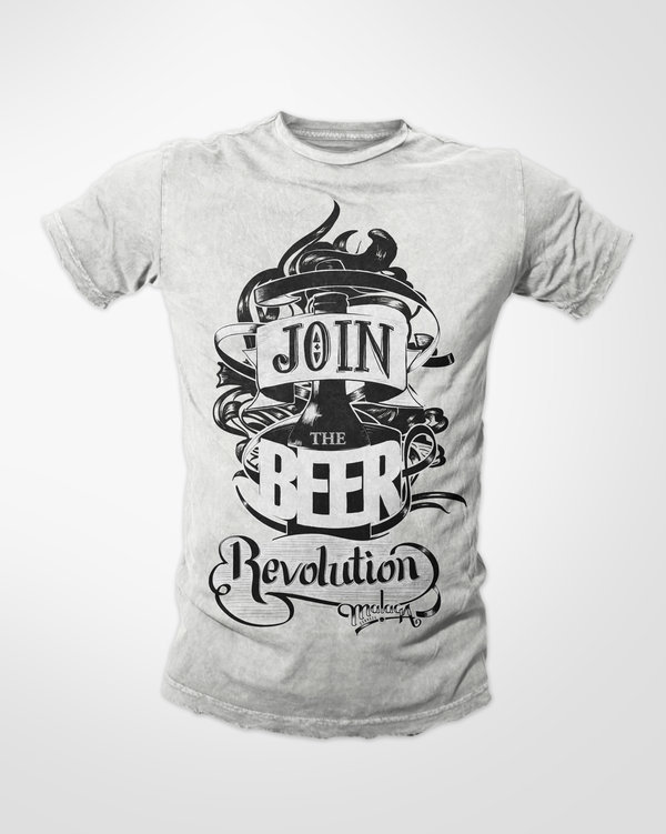 Camiseta exclusiva de Cerveza Malaqa