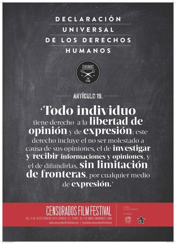 Este es el afiche del Festival CENSURADOS!