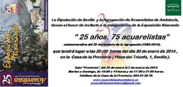 ¡¡ OS ESPERAMOS EN LA CASA DE LA PROVINCIA DE SEVILLA !! INAUGURACIÓN DE LA PRIMERA DE LAS 8 EXPOSICIONES ITINERANTES EL PRÓXIMO JUEVES 30 DE ENERO DE 2014, A LAS 20:00 HORAS.